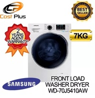 SAMSUNG WD-70J5410AW WASHER DRYER WD70 Combo with EcoBubble 7KG [2 YEARS PARTS + 11 YEARS MOTOR AGENT WARRANTY]
