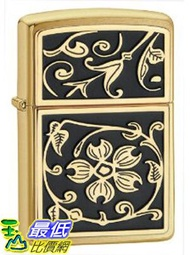 [美國直購 ShopUSA] Zippo Gold Floral Flush Emblem Lighter 打火機 20903 $1613