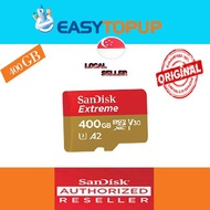 Sandisk Extreme Pro MicroSD card 400GB V30, U3, C10, A2, UHS-1, R170MB/s W90MB/s, SD adap, Lifetime Limited