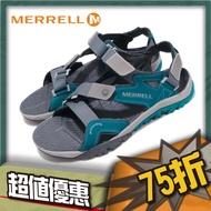 #MERRELL ML48671 男 戶外涼鞋TETREX CREST STRAP灰/藍
