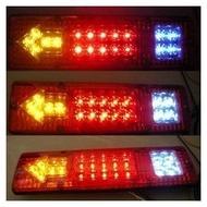 LED後燈組尾燈-含方向燈-煞車燈-倒車燈-12V- 堅達- 貨車3.5噸現貨供應48V附鐵座