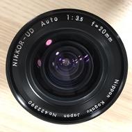 Nikon Ai'd Nikkor-UD Auto 20mm F3.5 MF 廣角定焦鏡