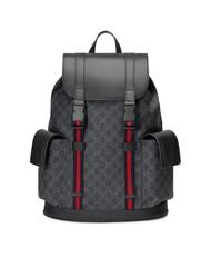 Gucci soft GG supreme 黑色翻蓋後背包