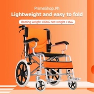 wheelchair Portable wheelchair Reclining wheelchair The whole car weighs only 11 kg with portable/foldable Front and rear hand brakes safe and reliable Thick 3D bee mesh back cushion/durable/good breathability Thickened high carbon steel frame