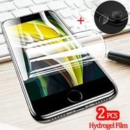 กล้องฟิล์มกระจก + 2 pcs hydrogel ฟิล์มสำหรับ iphone se2 apple se 2020 camera glass iphone se 2 iphonese2 protector apple se2 iphonese 2 กระจกนิรภัย apple iphone se 2 ฟิล์ม...