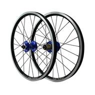 MTB Wheelset 20 Inch Disc Brake BMX Wheel 406 Folding Bike Wheels Rim V Brake 24H Sealed Bearing Hubs QR F9X100mm R9X135