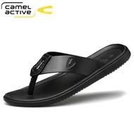 Camel ActiveCamel dynamic leather flip flops 2020 summer new non-slip soft bottom sandals and slippers men