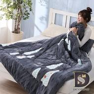 【岱思夢】森林浴 超激厚雙面法蘭絨暖暖被 台灣製 150x200cm 毛毯 毯被 毯子 被子 棉被