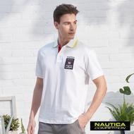 Nautica COMPETITION美式LOGO短袖POLO衫-白