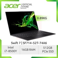 Acer Swift 7 SF714-52T-74A6 (Black) Light Weight Laptop at 0.89 KG with 8th Gen Intel Core i7-8500Y