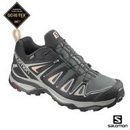 【salomon】低筒登山鞋 GORETEX 防水 女 X ULTRA 3(灰綠/鳳仙綠/綠鏽)