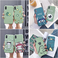Simple cute cartoon monster and sesame street pattern phone case for oppo R11 R15 R17 PRO K1 RENO soft case