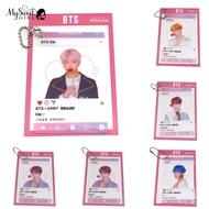 Mysweetgirl KPOP BTS PVC Transparent Photocard Bangtan Boys Bag Ornament