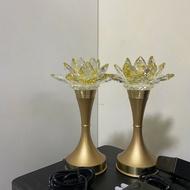 晶鑽蓮花燈 神明燈 6.5吋 8.2吋 一對價格 公媽燈 光明燈佛燈祖先燈供燈宗教用品
