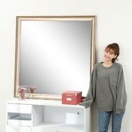 BuyJM 古典浮雕方型穿衣鏡/玄關鏡(高120x120公分)