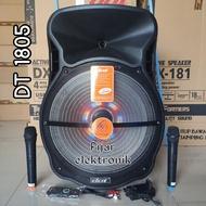 Speaker Portable 18 inch DAT DT 1805 Speaker Bluetooth