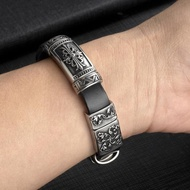 【手工制作】適用小米手環4/5NFC腕帶3復古真皮皮表帶運動2三代四代金屬中框替換帶個性
