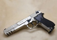 2館 WALTHER CP88 4.5mm 喇叭彈 CO2槍 長版銀(手槍模型槍玩具槍瓦斯槍BB彈BB槍鉛彈轉輪膛線來福