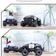 【進化玩具】四通道遙控悍馬警車1:43(遙控車 警車 玩具車)