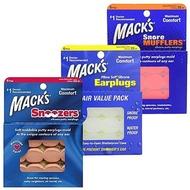 【Macks】美國 成人矽膠耳塞 6副裝 防噪音 飛行 游泳 適用