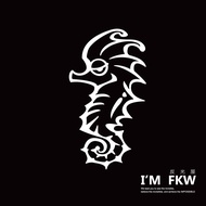 Reflective House FKW Small Hippocampus Cute Stickers Reflective Stickers