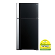 Hitachi RVG690P7MS 2 Door Fridge + free rice cooker