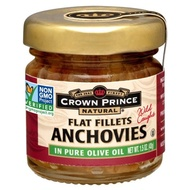 Crown Prince Natural Anchovies Flat Fillets In Pure Olive Oil 1.5 oz (43 g)