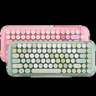 口紅圓點藍芽鍵盤 蘋果ipad平板安卓手機mac筆記本外接機械手感無線鍵盤可愛女生