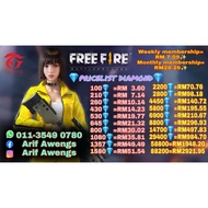 FREE FIRE TOPUP DIAMOND (B) ( Process up to 1 hours)
