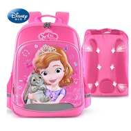 Disney 迪士尼 小公主蘇菲亞3D防潑水立體護脊書包 3色可選玫紅色