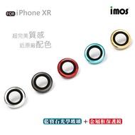imos 鏡頭專用藍寶石鏡頭保護鏡For iPhone XR 採用金屬框鑲藍寶石光學玻璃
