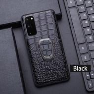 ของแท้หนังเคสโทรศัพท์สำหรับ Samsung Galaxy S20 S10 S10e หมายเหตุ10 20 Ultra 5G S8 S9 Plus Case Cowhide ขาตั้งแม่เหล็กฝาครอบ