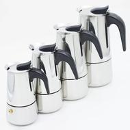 กาต้มกาแฟสดแบบพกพาสแตนเลส ขนาด 6 ถ้วยเล็ก 300 มล. หม้อต้มกาแฟแบบแรงดัน เครื่องทำกาแฟสด 300ml NPMshop
