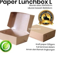 ☆➻ Kraft Paper lunch box - Large Contents 100pc food grade Eco-Friendly To Send Directly