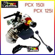 ชุด เรือนลิ้นเร่ง CBR 150 ขนาด 30mm, 32mm แปลงใส่ PCX พร้อมแมพเซ็นเซอร์ **พิเศษ ฝาครอบหัวฉีดแบบหลบโครง**  เรือนcb เรือนpcx