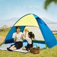 帳篷 小熊戶外防曬全自動帳篷公園3-4人1秒速開免搭建露營家庭2人沙灘