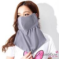 BeautyFocus 吸濕排汗抗UV護頸口罩(深灰)