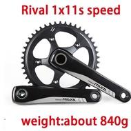 SRAM RIVAL Crankset 1 1X11 Speed 11s Road Bike Crank Bicycle Part 42T/44T 170mm/172.5mm XSYNC Crankset GXP Chain Wheel 24mm