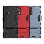 Realme GT 5G 雙層保護殼鎧甲盾支架全包手機殼背蓋
