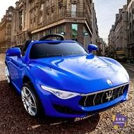 電動車 瑪莎拉蒂 兒童電動車四驅四輪遙控汽車小孩寶寶4輪玩具可坐人童車T 3色