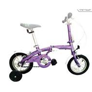 (免運+4大贈品) OYAMA歐亞馬JR200 兒童折疊車(紫色)-【台中-大明自行車】