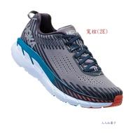 下殺5折 HOKA ONE ONE(男)Clifton5 寬楦 超緩震跑鞋 慢跑鞋 HO1093757FGEB (灰