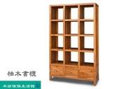 -木坊傢俱生活館- 柚木書櫃 收納櫃 書架 原木 實木家具 類詩肯