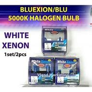 Ready stock BLUEXION/BLU-WHITE XENON 5000K HALOGEN BULB-(2pcs) H7