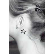 中空星星HC08紋身貼【LA❇TATTOO】紋身貼紙 防水微刺青貼紙