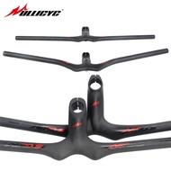 Ullicyc AERO Series Matte External Standard Sticker Mtb Bike Integrated Risers Handlebar Flat/rise Integrated Handlebar