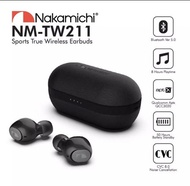 Nakamichi TW211 Qualcomnm QCC3020 True Wireless IPX7 Waterproof Sport Earbuds- Delicate Leather Case
