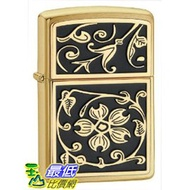 [美國直購 ShopUSA] 打火機 Zippo Gold Floral Flush Emblem Lighter 20903