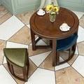 洽談桌 美式實木餐桌椅組合多功能創意茶桌個性收納休閒售樓處接待圓桌子T 綠光森林