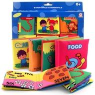 Roomall 🇹🇭 6PCS ไม่ฉีกขาด หนังสือผ้าเด็ก Soft Cloth Books Rustle Sound Infant Books Baby Books Quiet Books Educational Stroller Rattle Toys for Newborn Baby 0-12 month